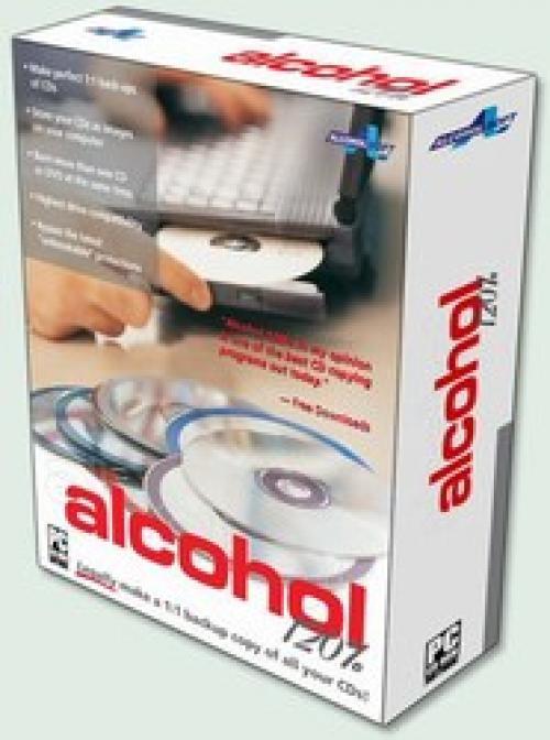 Alcohol 120% является программой эмуляции и записи CD и DVD, позволяет